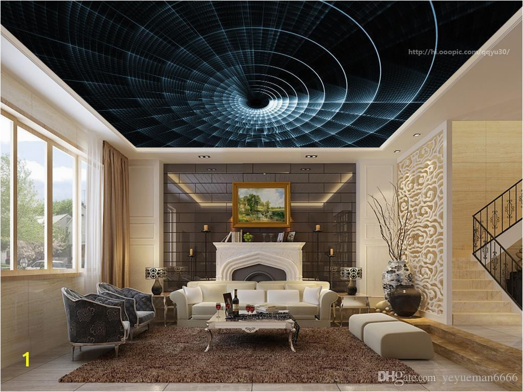 Abstract Ceiling Murals Wallpaper Custom Living Room Bbedroom Spiral Light 3D Wwallpaper For Ceiling Discount Wallpaper Download Desktop Wallpapers From