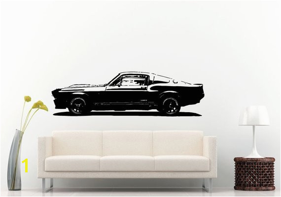 Classic Old School Antique American Muscle Sports Racing Fast Car Automobile Vehicle Wall Decal Viny