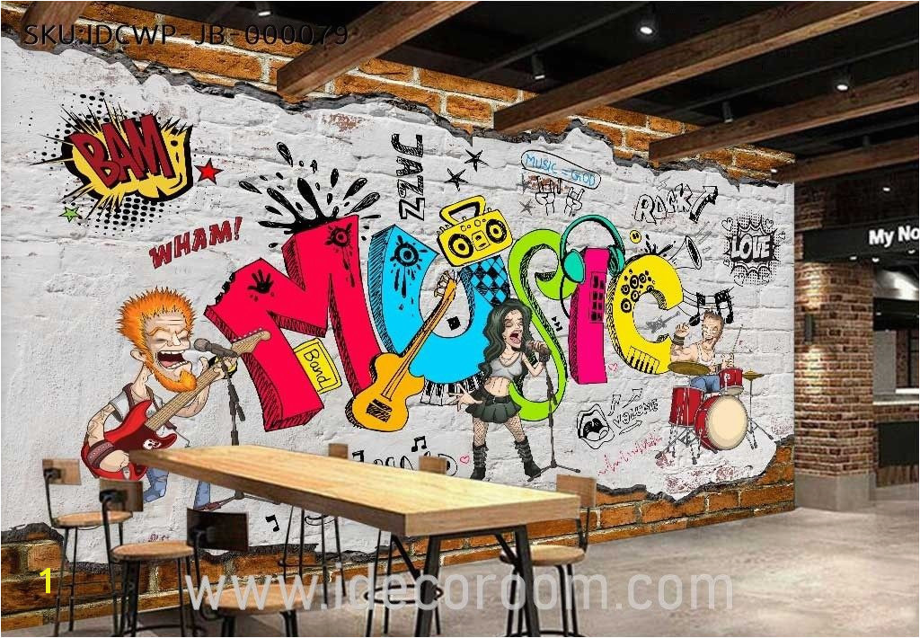 Animated Band Music Cartoon ic Art Wall Murals Wallpaper Decals Prints Decor IDCWP JB