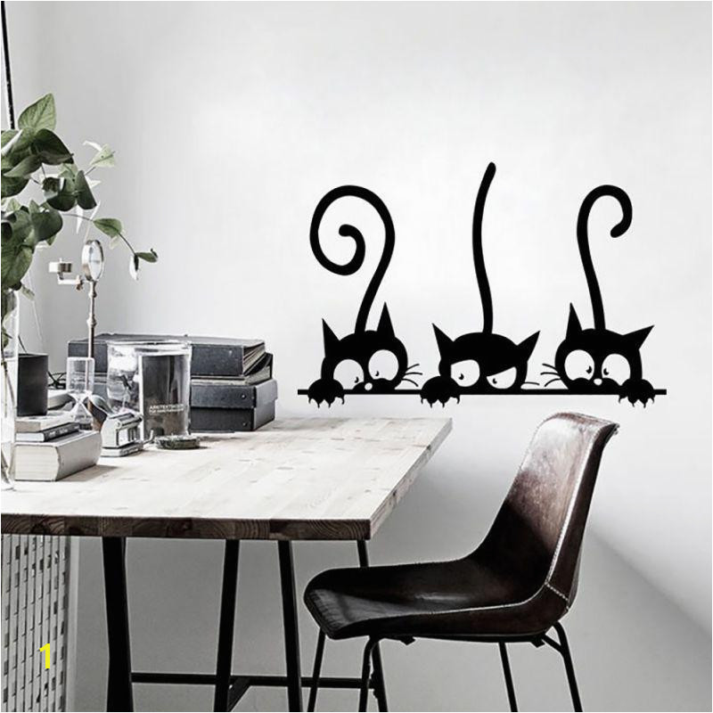 DIY Cartoon Kitten Cats Wall Sticker Decor Decals Children S Room Decorations Vinyl Waterproof Wallpaper Home Decor Mural Wall Stickers Music Wall Decals