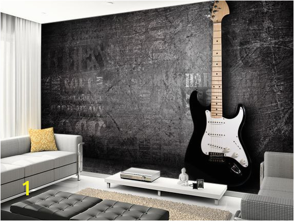 Music Murals for Walls Electric Guitar Music and Musicians Wallpaper