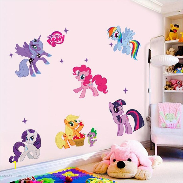 Factory Price horse poster 3d cartoon wall stickers for kids rooms Kid Wall decals room home decoration 1425 in Wall Stickers from Home & Garden on