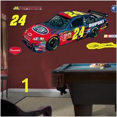 Jeff Gordan Car NASCAR Wall Decal Kids Decorating Ideas Kyle Busch Kids Wall Decals