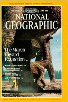 National Geographic June 1989 Dinosaurs Malta Tibetan Nomads Animal Extinction Free U S Shipping SJG