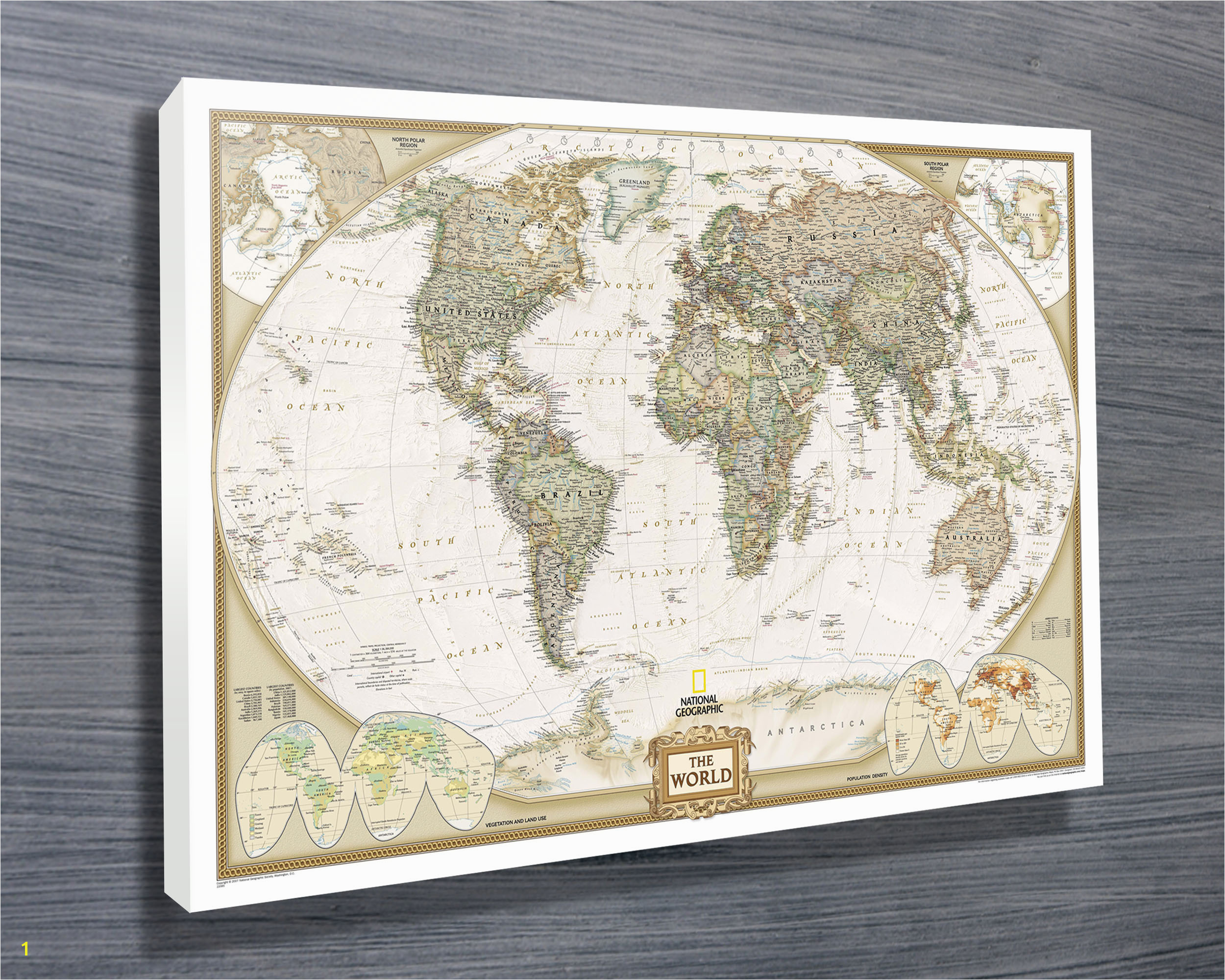 National Geographic World Map Wall Mural Outstanding National Geographic Wall Art Motif Wall Art Ideas