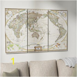 National Geographic Wall Murals World Map Wall Art