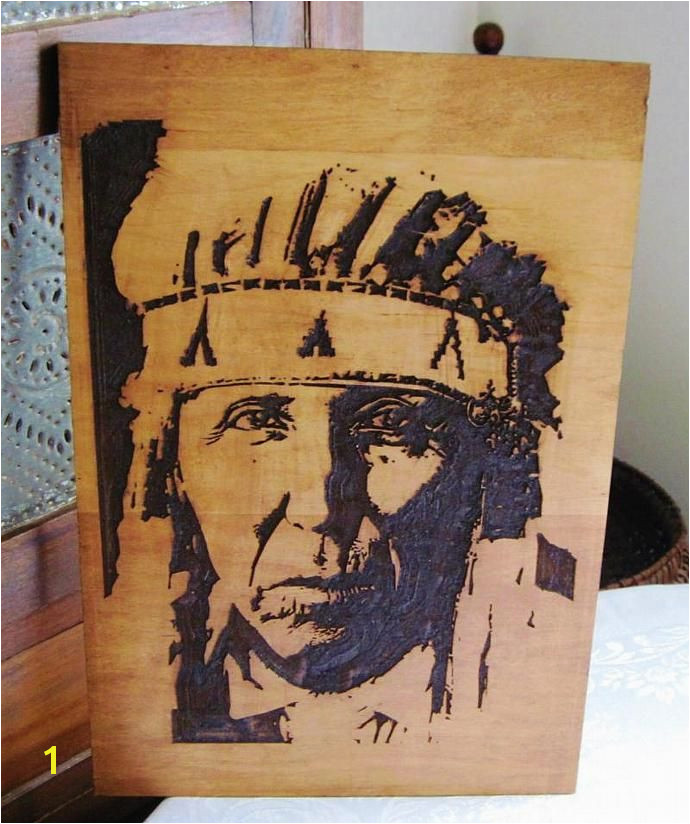 A Proud Cheyenne Indian Warrior Handmade Wood Carved Native American Indian Art Wall Hanging by TWWoodcraft $47 00 USD