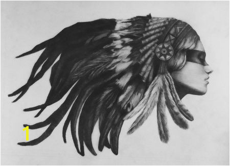 american indian women drawings