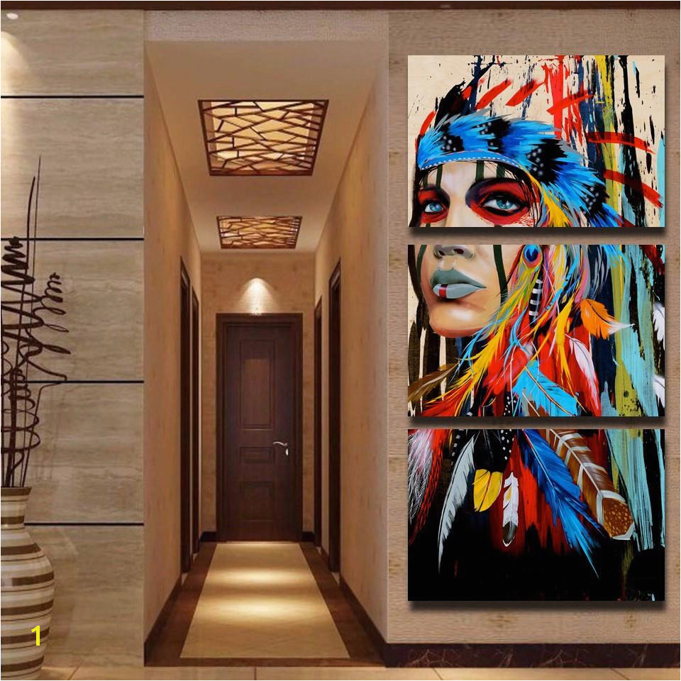 Sacred Indian Native American Limited Edition 3 Piece Wall Art Canvas Royal Crown Pro