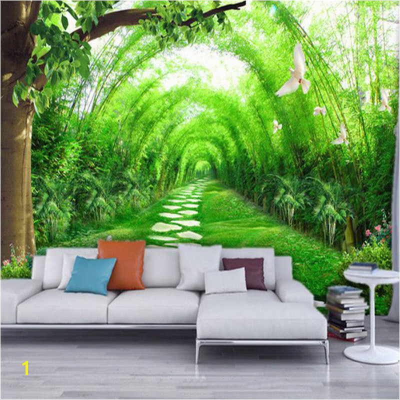 Custom Murals 3D Rural Natural Scene Wallpaper Papel De Parede Living Room Home Decor 3D Wall Murals Wall Papers Landscape in Wallpapers from Home