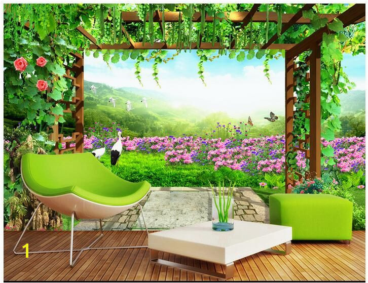 3d wallpaper custom photo non woven mural wall sticker 3 d Grape flower pastoral scenery