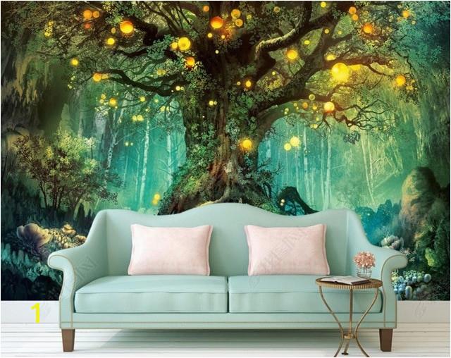 Beautiful dream 3D Wallpapers forest 3D Wallpaper Murals Home Improvement TV Backdrop