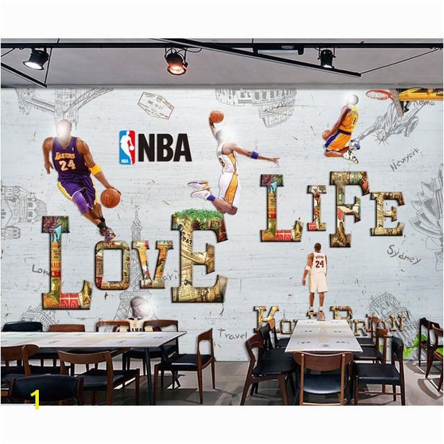 Cartoon Wall Paper Modern 3D Basketball Star Wallpaper Mural Children s Room Home Decor Self Adhesive Vinyl Silk Wallpaper
