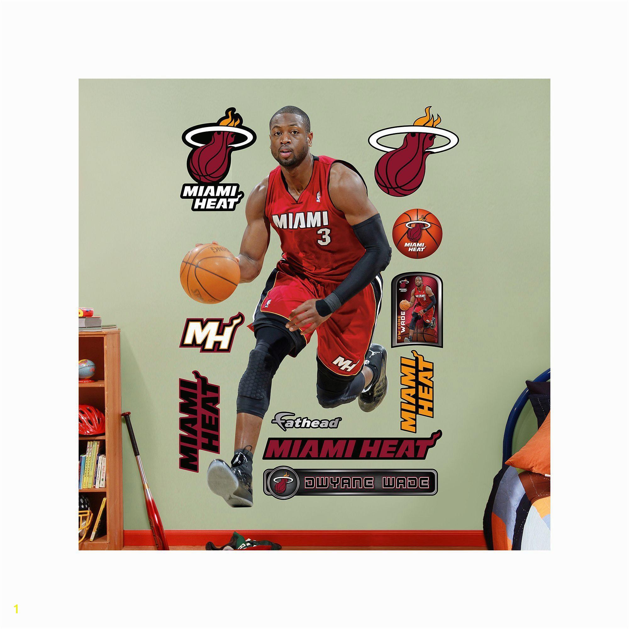 Fathead Miami Heat Dwyane Wade Wall Decals Multicolor