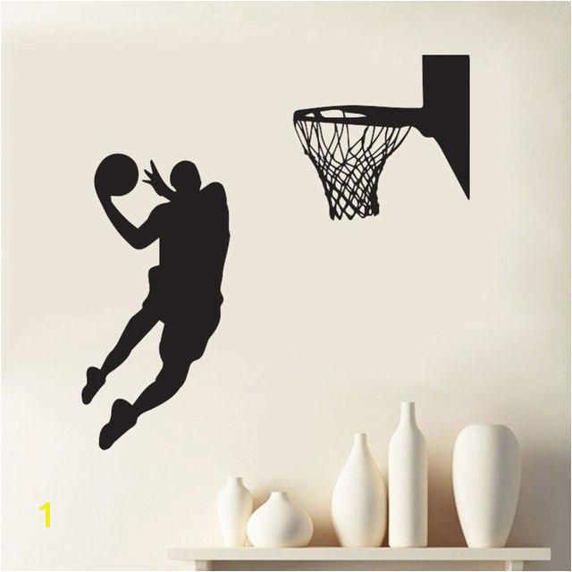 Heißer Wirkenden Kühle Wand Aufkleber Slam Dunk Basketball Wandbild Abnehmbare Art Vinyl Wand Aufkleber Zimmer Dekorative