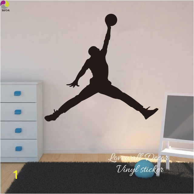 Nba Wall Murals Michael Jordan Chicago Bulls Wall Sticker Living Room Nba Basketball