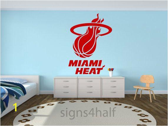 Removable Miami Heat Basketball Team Wall Art Decor Decal Vinyl Sticker Mural Sports NBA