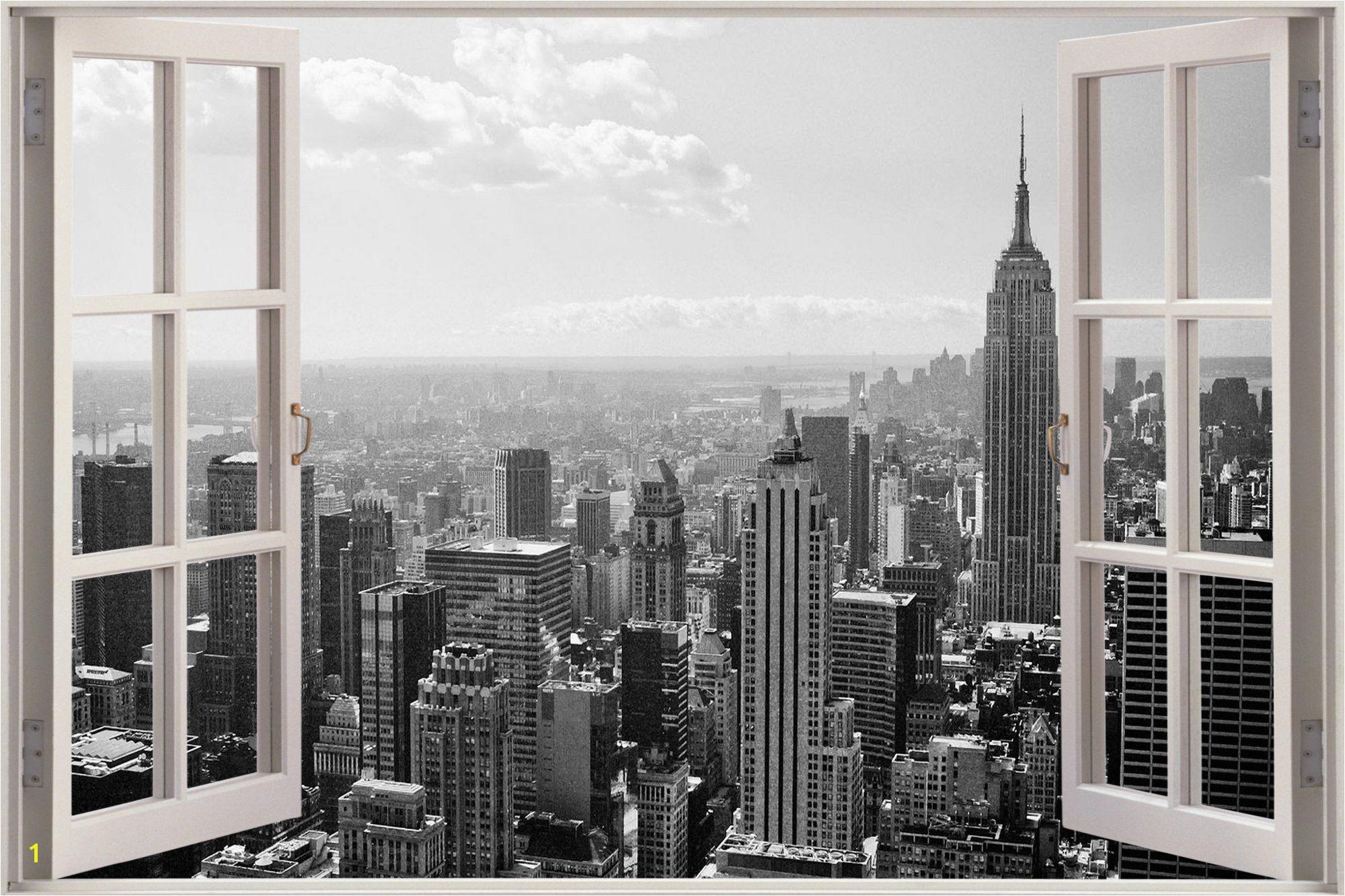 New York City Wall Murals Cheap Huge 3d Window New York City View Wall Stickers Mural Art Decal