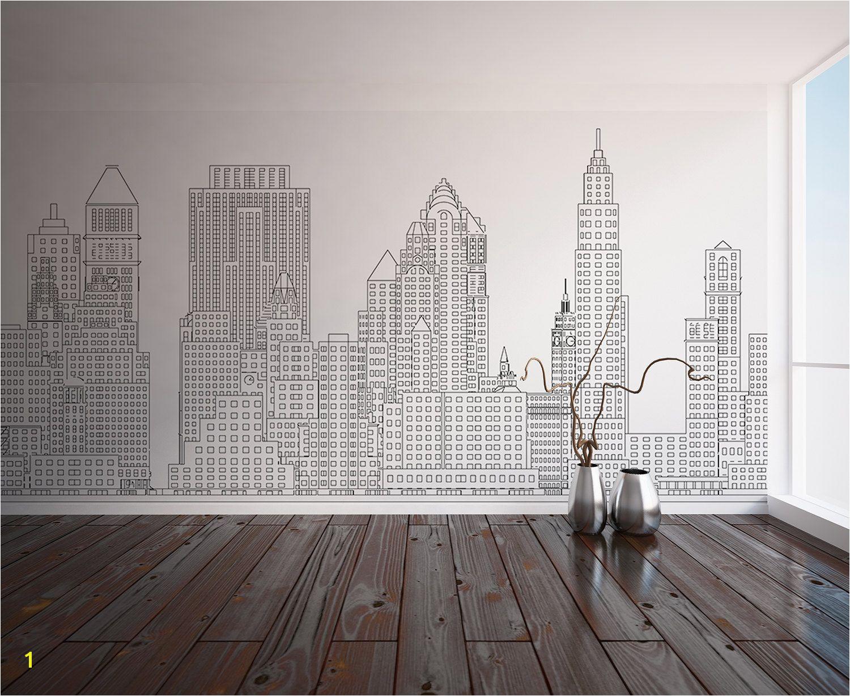 Manhattan skyline New York City NYC Custom Printed Wall Custom Wall Murals Wall Decals