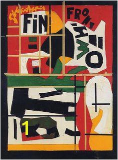 """""""Fin"""" Last Painting by STUART DAVIS In Full Swing"""