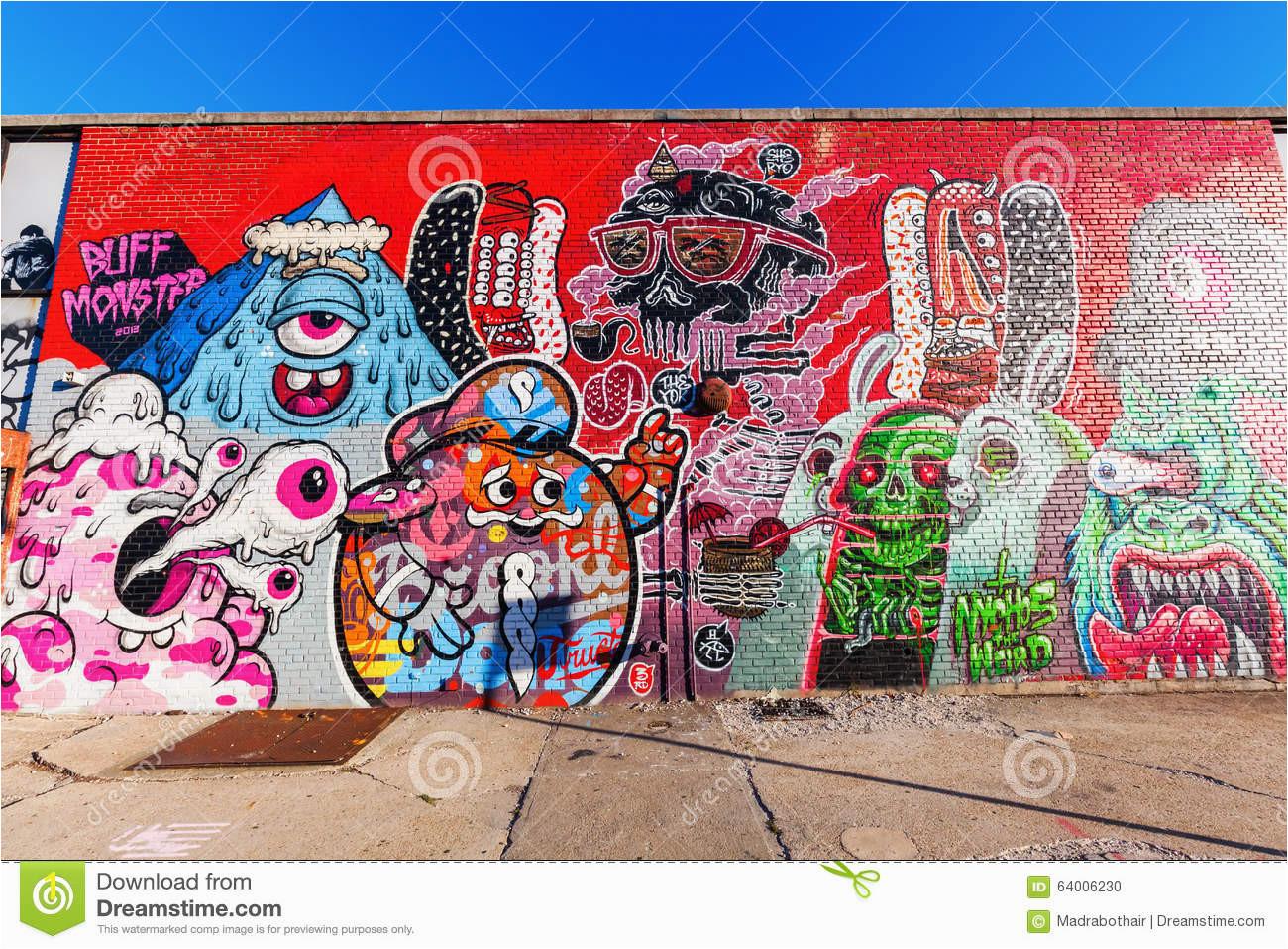 Mural art in Bushwick Brooklyn NYC