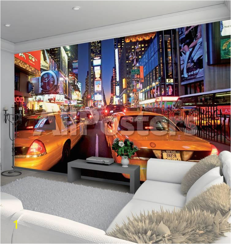 New York Murals for Walls New York Times Square Wallpaper Mural Wallpaper Mural by Allposters