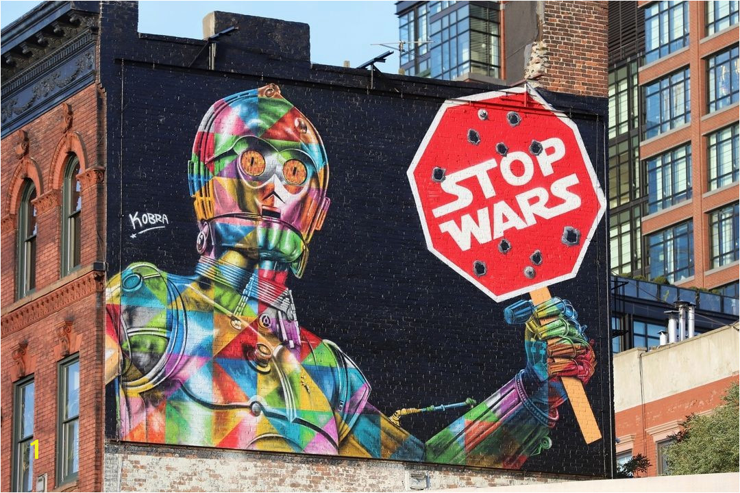 """Stop Wars"" by kobrastreetart in New York Locatio"