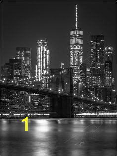 Fine Art Print Black and White New York City Skyline Picture