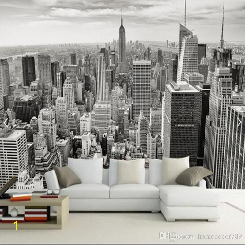 Retro Nostalgic New York Black And White 3D City Sofa TV Background Wall Decoration Wallpaper Bars Hotels Living Room Wall Paper Mural Canada 2019 From