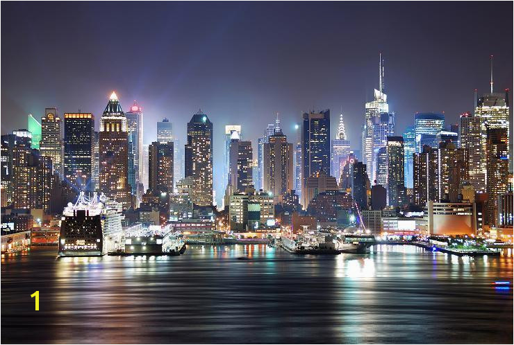 New York Skyline Decorating Wallpaper Mural Art 7 delivery 740x498