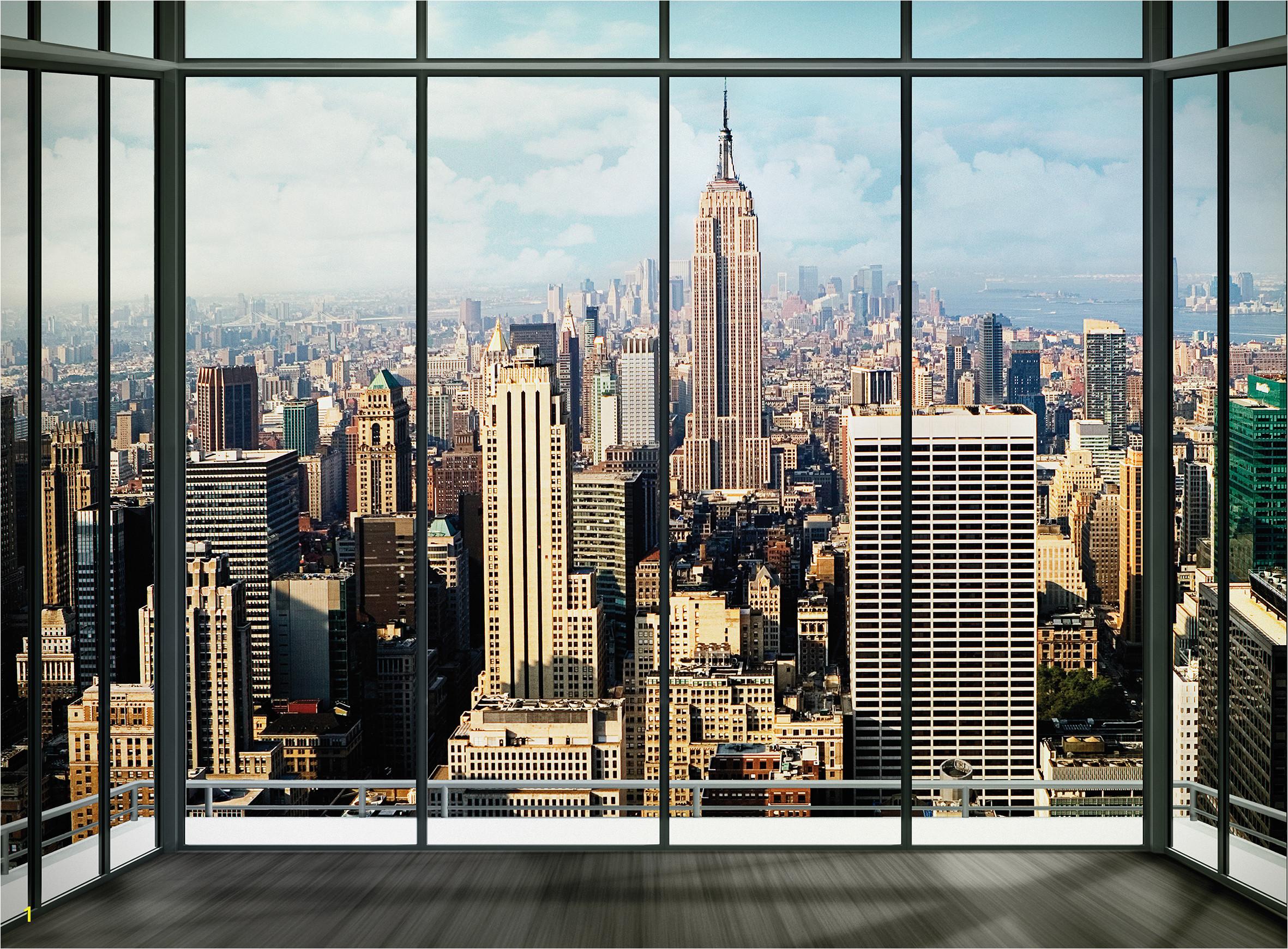 Wallpaper Murals Wall Mural New York Skyline Window 2362x1740
