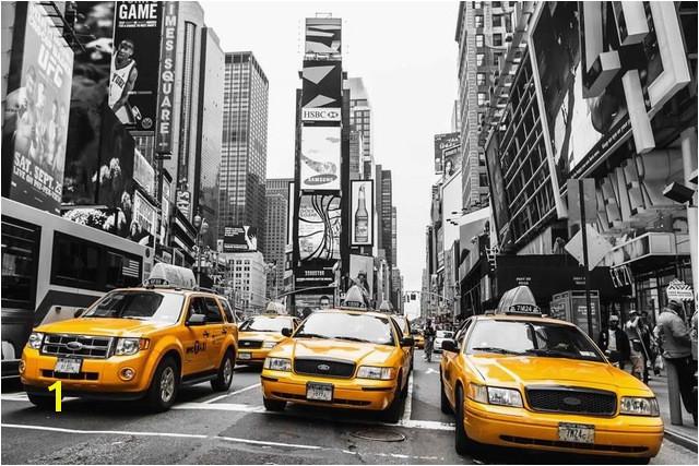 Niestandardowe Pł³tno Decoals New York Ścianie Plakat NY Ulicy Taxi Taxi NR 1 Naklejki Ścienne