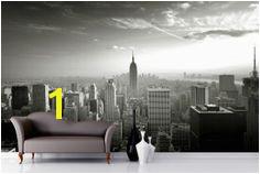 Empire State Skyline Wallpaper Mural New York Bedroom City Bedroom fice Wall Art