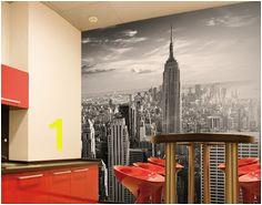 Manhattan Skyline Wallpaper Mural New York cityscape feature wall decor