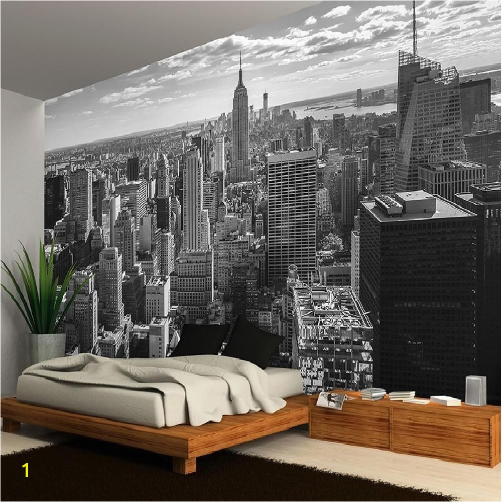New York Wall Mural Uk New York Manhattan Skyline Wallpaper Mural Photo Giant Wall Poster
