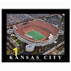 Art Kansas City Chiefs Arrowhead Stadium Wall Art