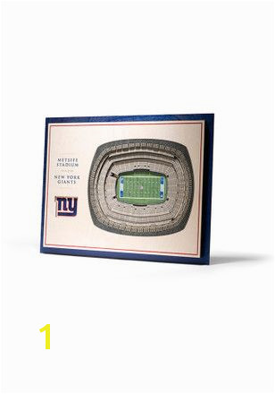 Add a little team spirit on your walls with this New York Giants 5 Layer 3D Stadium View Wall Art newyorkgiants NFL football 3dart wallart