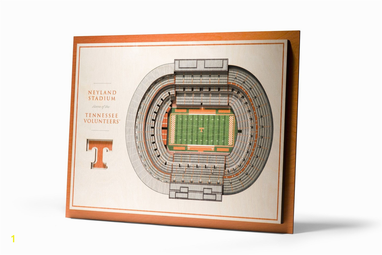 Tennessee Volunteers 5 Layer Wooden Replica StadiumView 3D Wall Art Neyland Stadium