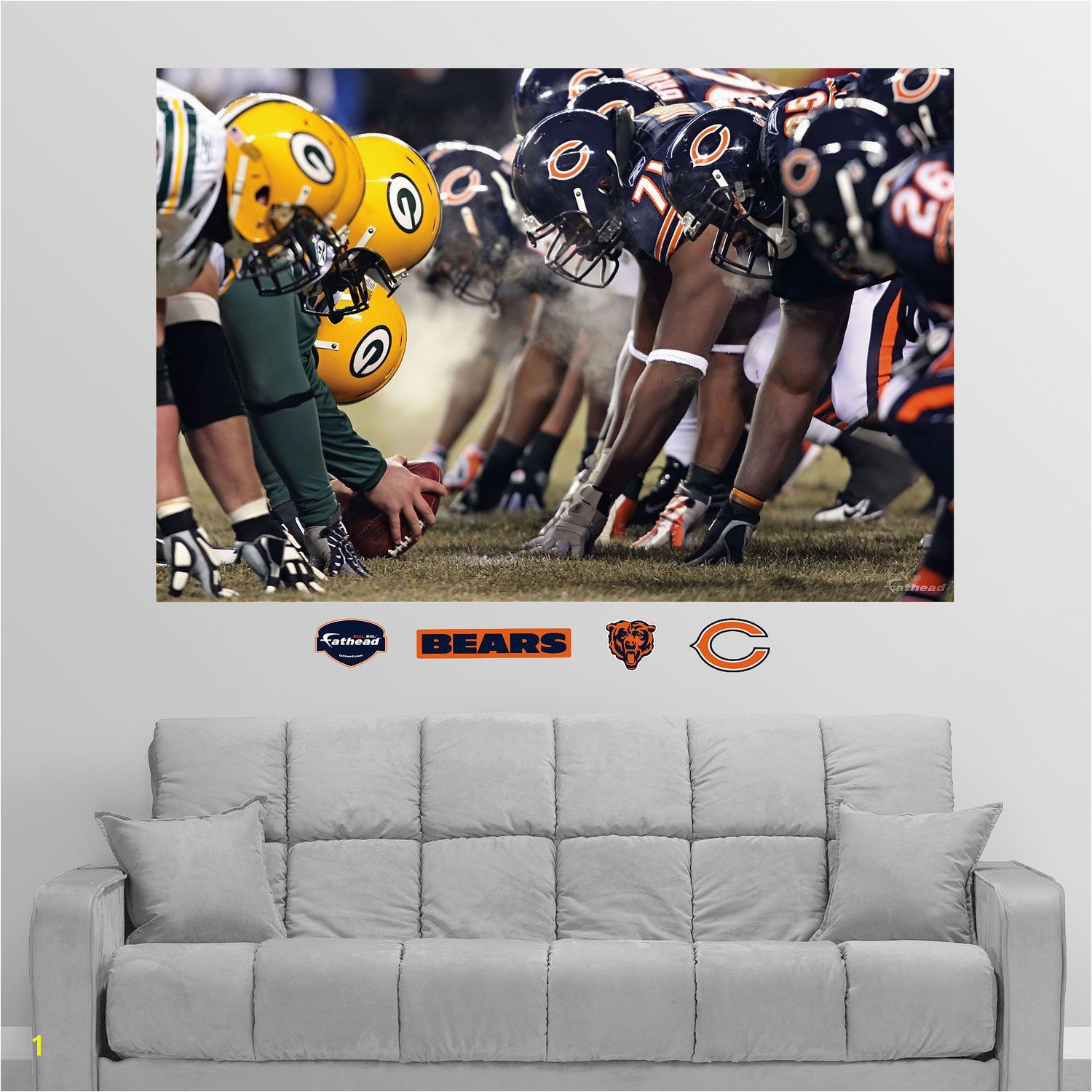 Fathead Chicago Green Bay Line of Scrimmage Wall Graphic Team