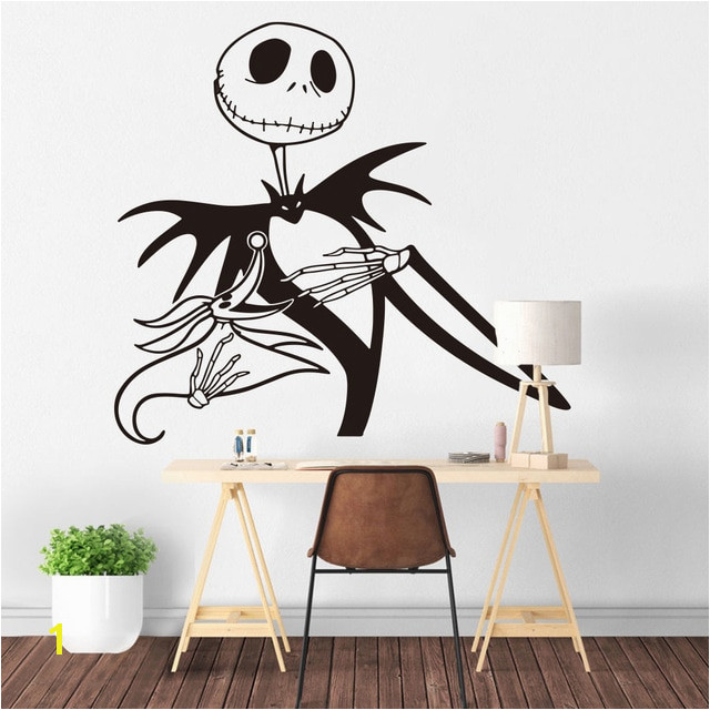Jack Skellington Wall Sticker Kids Room Bedroom Nightmare before Christmas Wall Decal Zero dog Living Room Vinyl Home Decor in Wall Stickers from Home