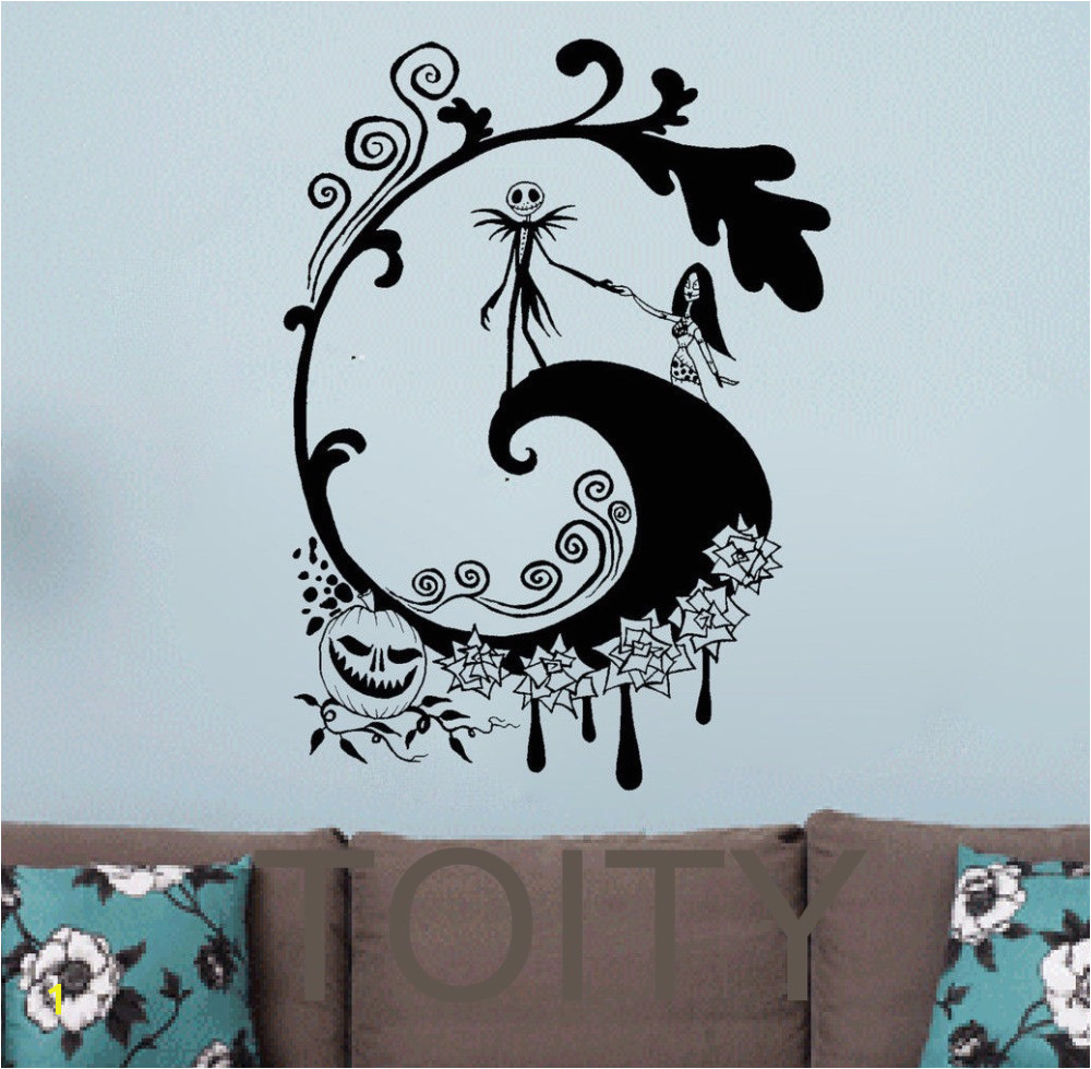 The Nightmare Before Christmas Wall Sticker Halloween Vinyl Decal Retro Movie Poster Dorm Bar Club Home