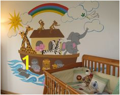 Noah s Ark Paint by Number Wall Mural