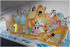 My first wall mural for a primary school in Lincolnshire England They wanted something based on Noah s Ark