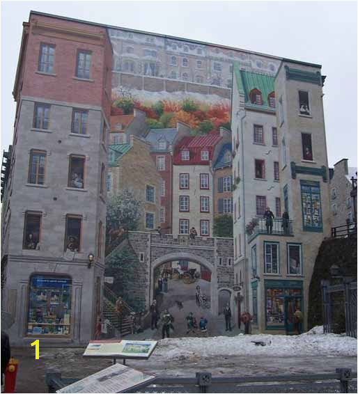 Fresco Wall Art in QuebecCity La Fresque des Québécois