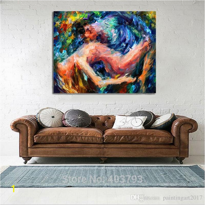 Lovers y wall art Hand painted oil painting Nude women abstract pictures on canvas
