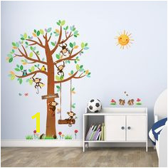 5 Little Monkeys Tree Wall Stickers Wall Stickers Uk Childrens Wall Stickers Wall Decals