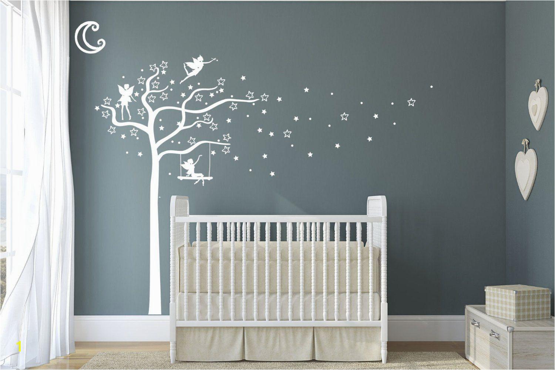 Nursery Wall Murals Uk Premium Fairy Stars & Moon Tree Quality Vinyl Matte Wall Decal