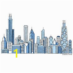 Chicago Skyline a DIY Paint by Number Wall Mural by Elephant on the Wall