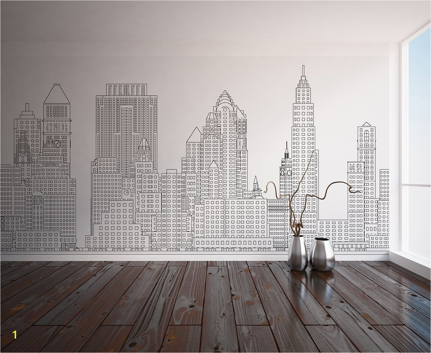 Manhattan skyline New York City NYC Custom Printed Wall Custom Wall Murals Wall Decals