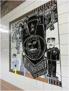 """The Greenwich Village Murals The Providers"" 1994 by Lee Brozgol & Students of P S 41 Subway TilesSubway ArtNyc"